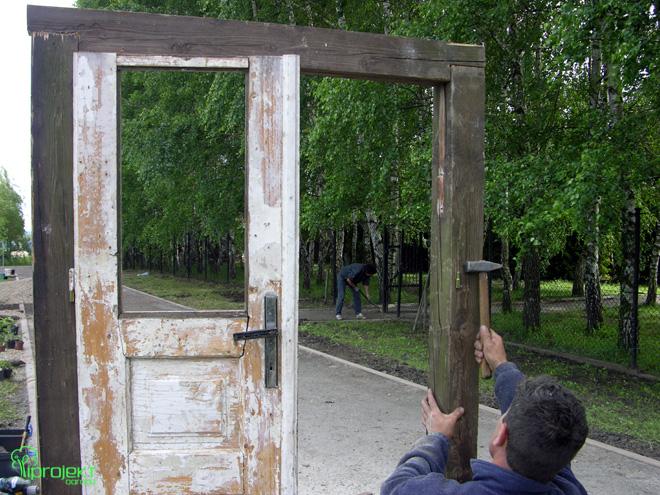 drzwi w ogrodzie IPROJEKT