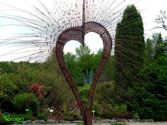 wiklinowe serce wiklinowa rzeźba IPROJEKT
