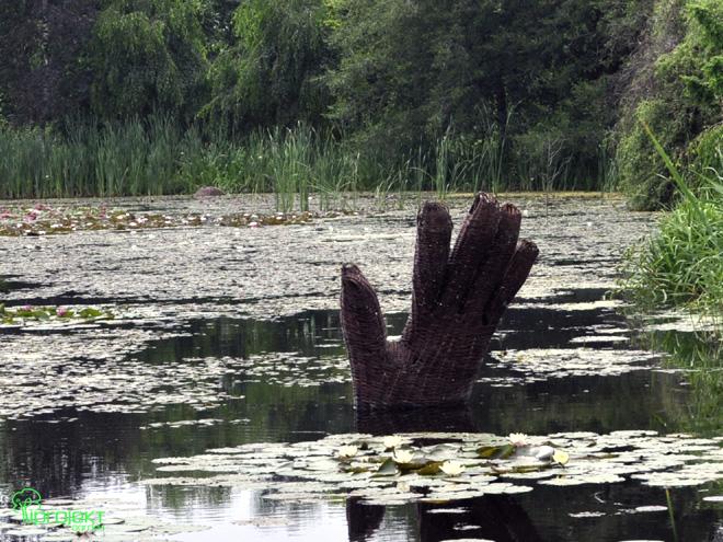 dłoń wiklinowa rzeźba IPROJEKT