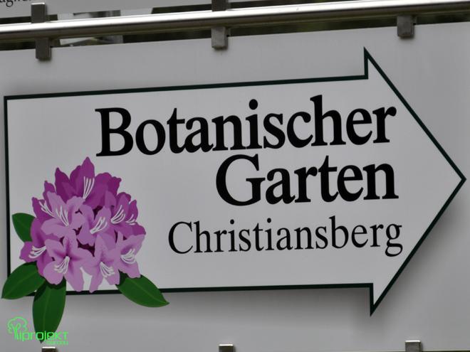 drogowskaz do ogrodu botanicznego Cristiansberg IPROJEKT