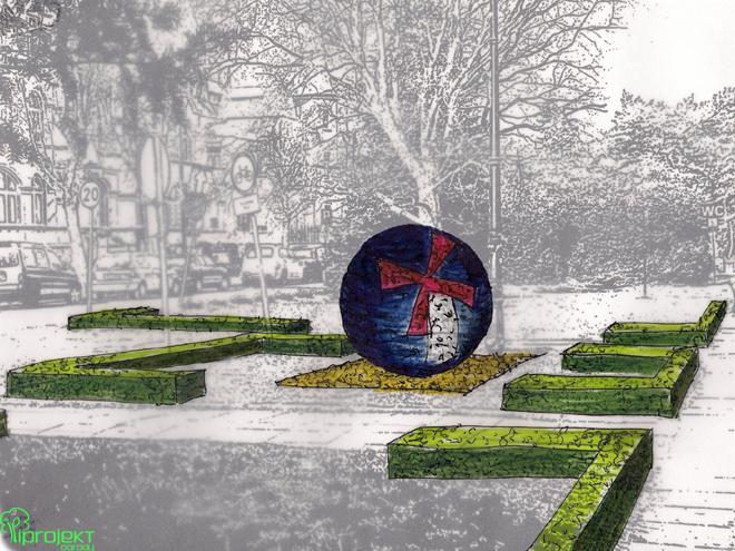 projekt kuli kwietnej przy promenadzie w Świnoujściu