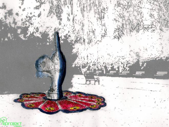 projekt rabaty kwietnej przy promenadzie w Świnoujściu